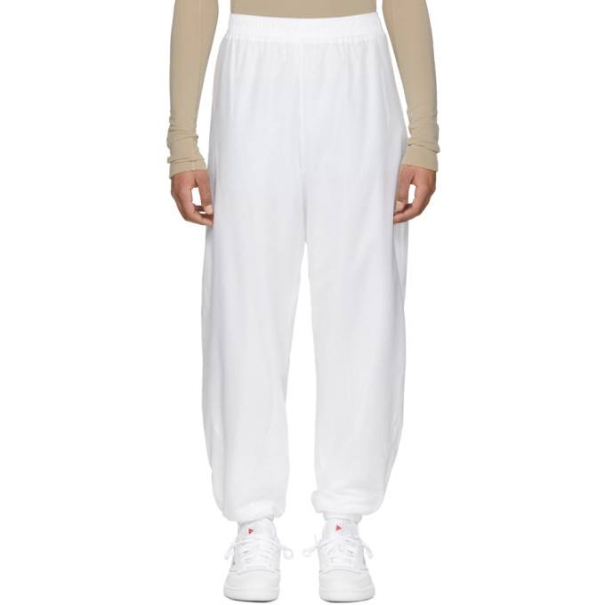 Image of GmbH White Seher Jogging Lounge Pants