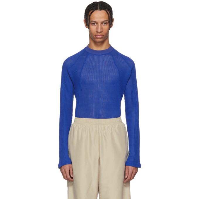 GmbH Blue Ribbed Mesh Yasmina Sweater