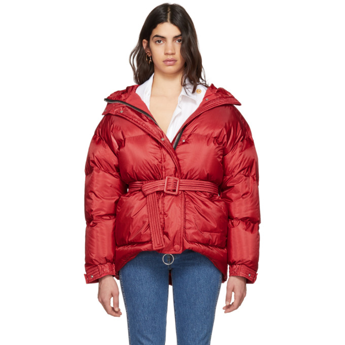 Image of Ienki Ienki Red Michlin Belted Down Puffer Jacket