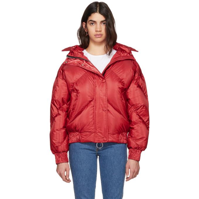 Image of Ienki Ienki Red Dunlop Down Puffer Jacket