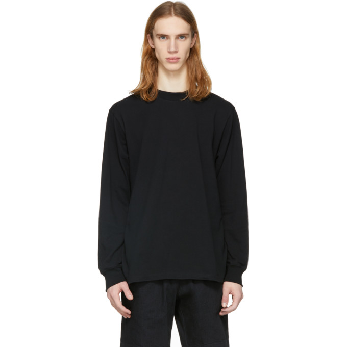 Image of paa Black Long Sleeve Piqué T-Shirt