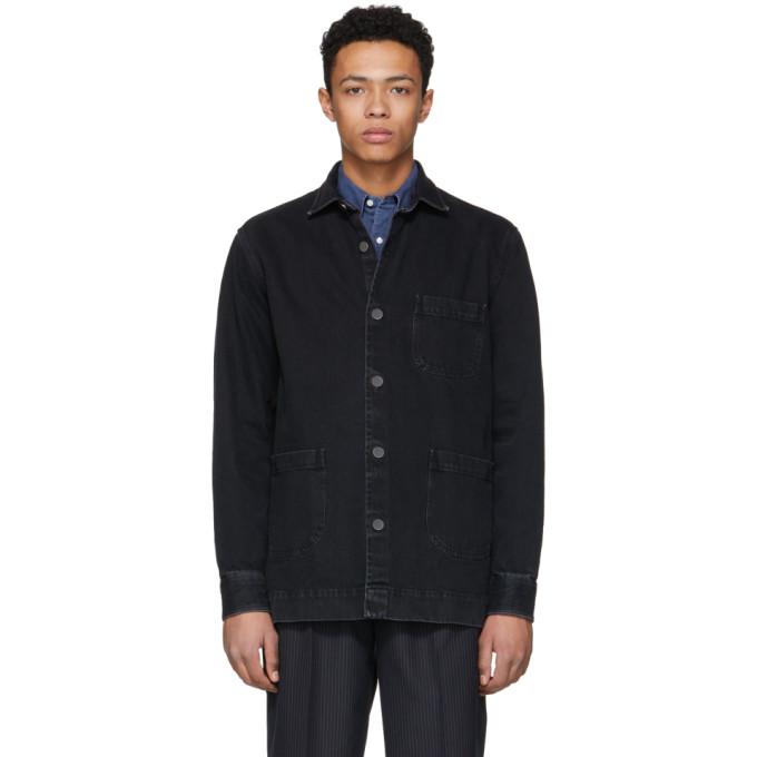 Image of Schnayderman's Black Denim One Overshirt Jacket