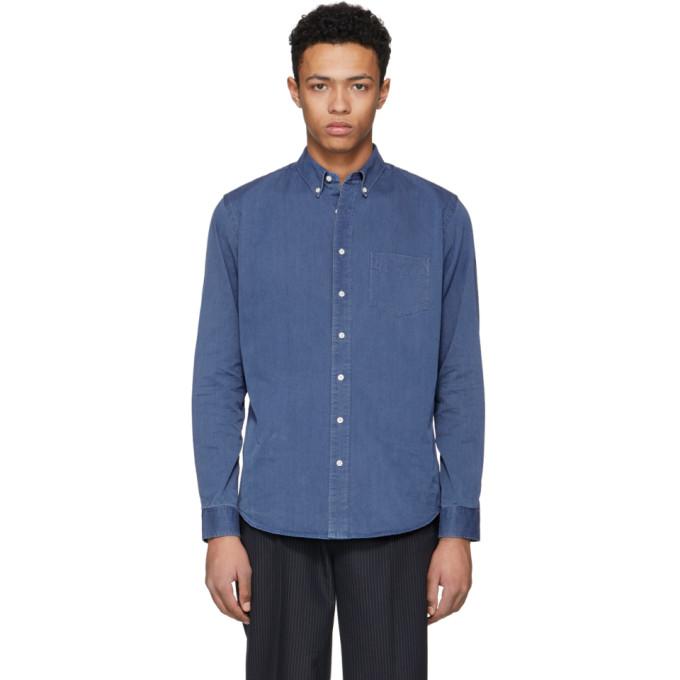 Image of Schnayderman's Blue Denim Leisure One Shirt