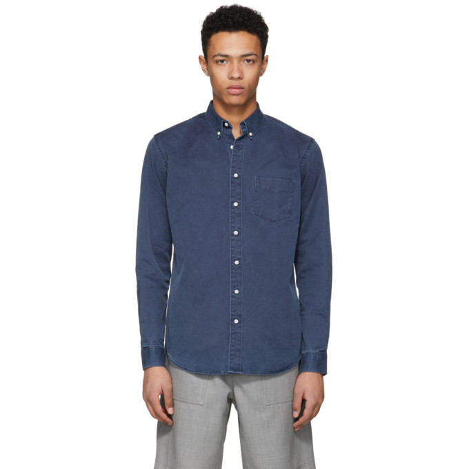 Image of Schnayderman's Blue Overdyed Leisure One Shirt