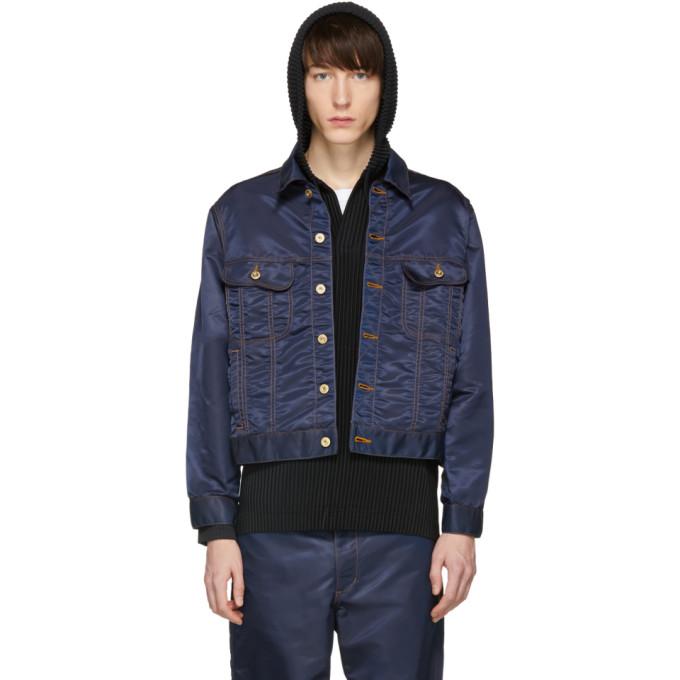 Image of Landlord Navy Nylon Jacket