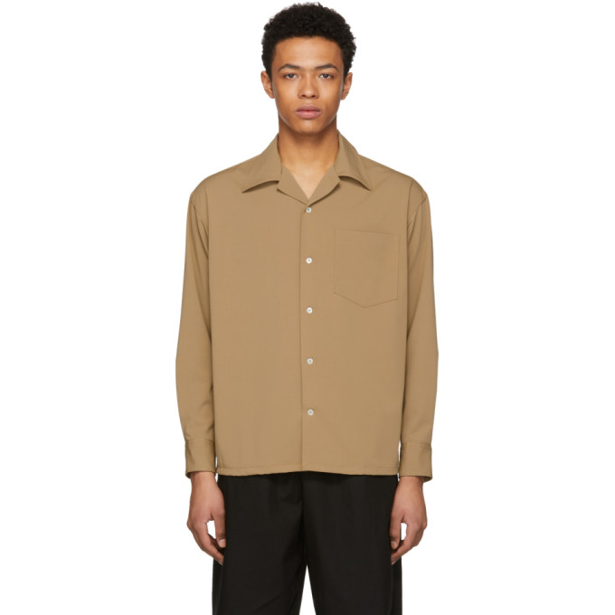 Image of N.Hoolywood Beige Button-Down Shirt