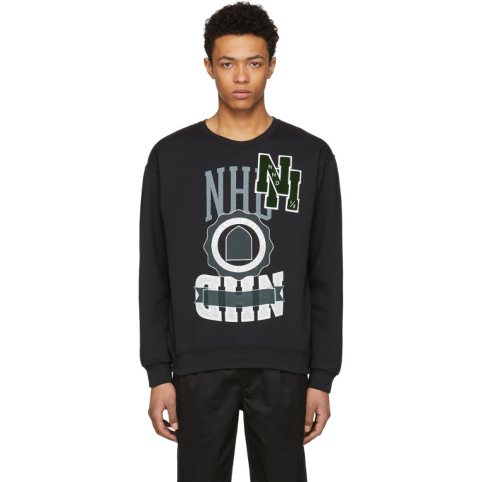 Image of N.Hoolywood Black Logo Sweatshirt