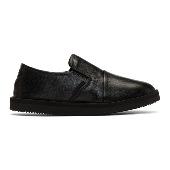 Image of N.Hoolywood Black Suicoke Edition Slip-On Loafers