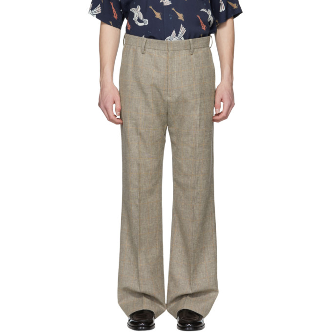 Image of HOPE Beige Wide Trousers