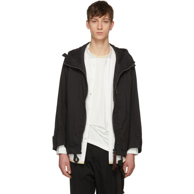 Image of Ziggy Chen Black Big Hood Coat