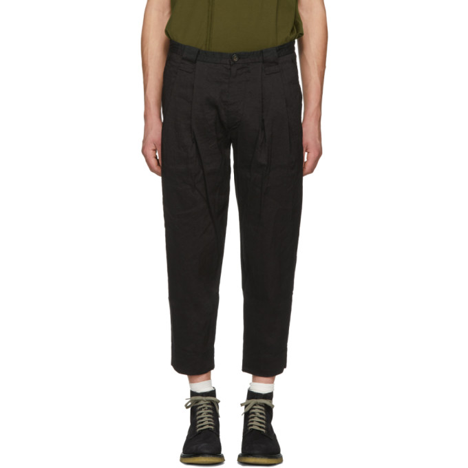 Image of Ziggy Chen Black Cropped Trousers
