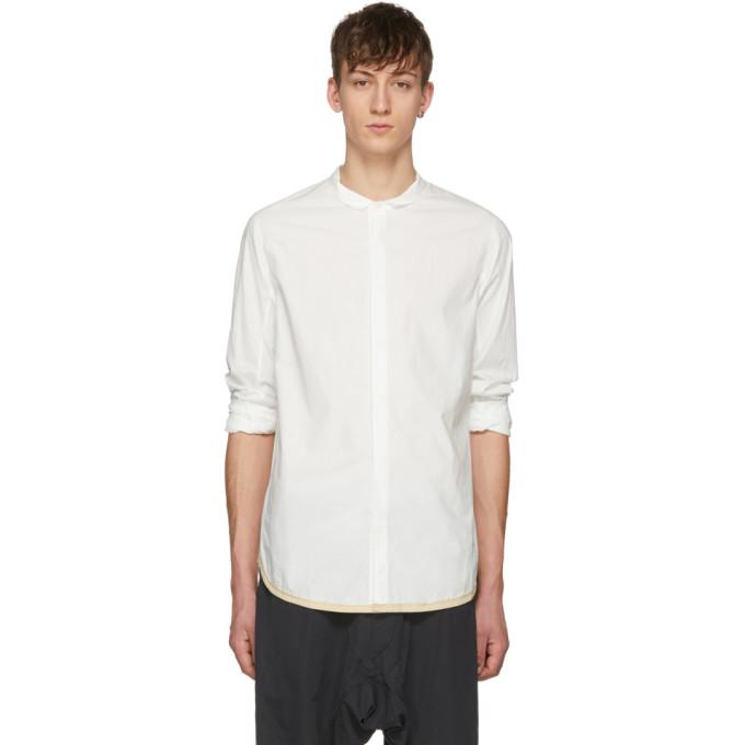 Ziggy Chen Chemise blanc casse High Collar