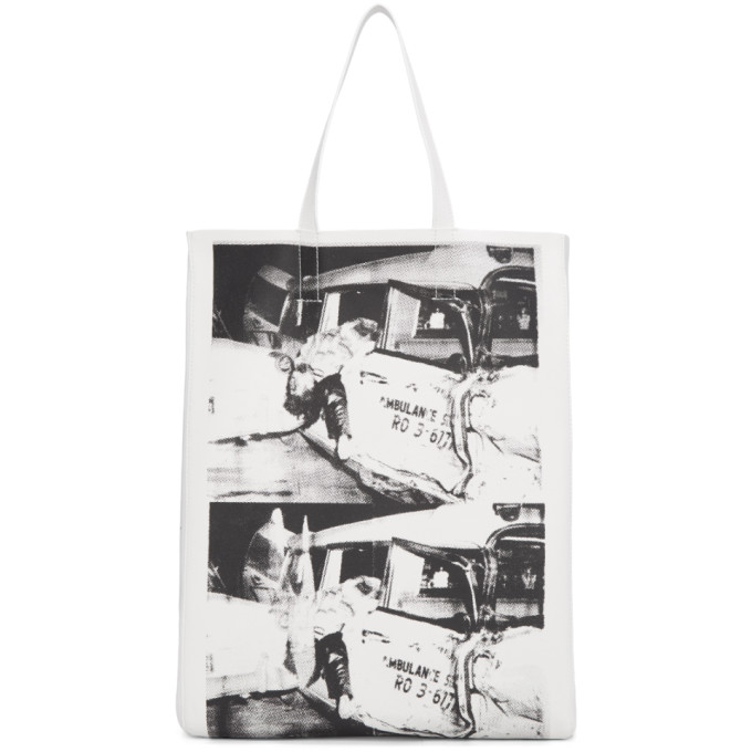 Calvin Klein 205W39NYC White Ambulance Disaster Soft Tote