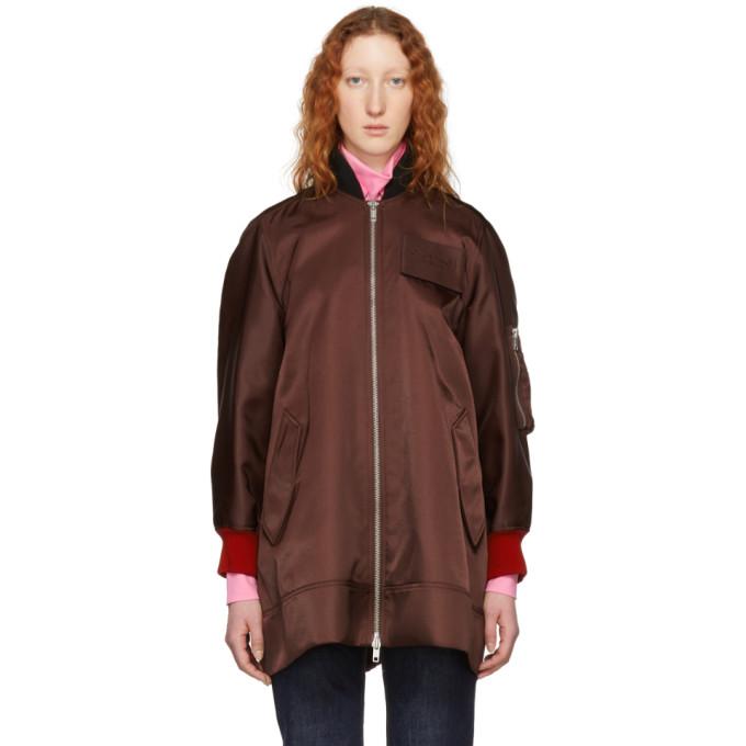 Calvin Klein 205W39NYC Burgundy Oversized Bomber Jacket