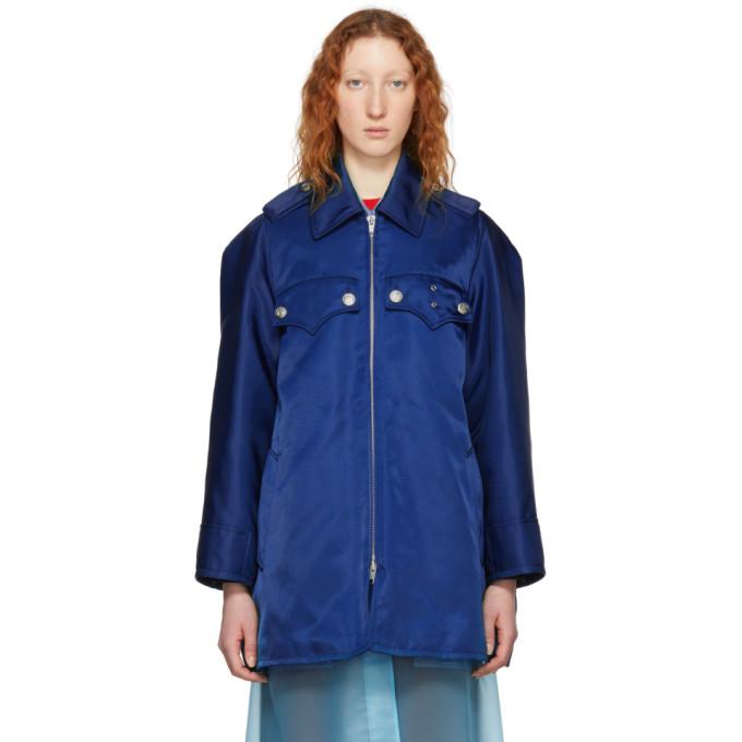 Calvin Klein 205W39NYC Blue Western Detail Coat
