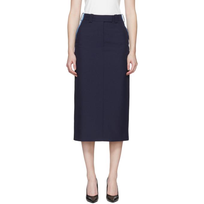 Calvin Klein 205W39NYC Navy Uniform Skirt