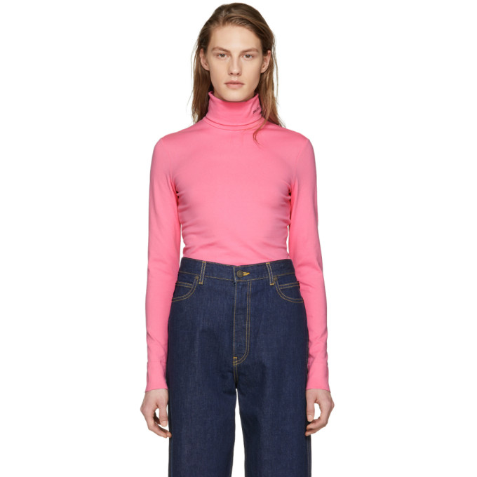 Calvin Klein 205W39NYC Pink Logo Turtleneck
