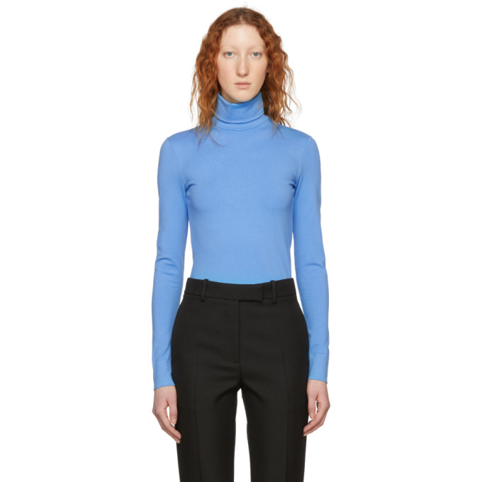 Image of Calvin Klein 205W39NYC Blue Logo Turtleneck