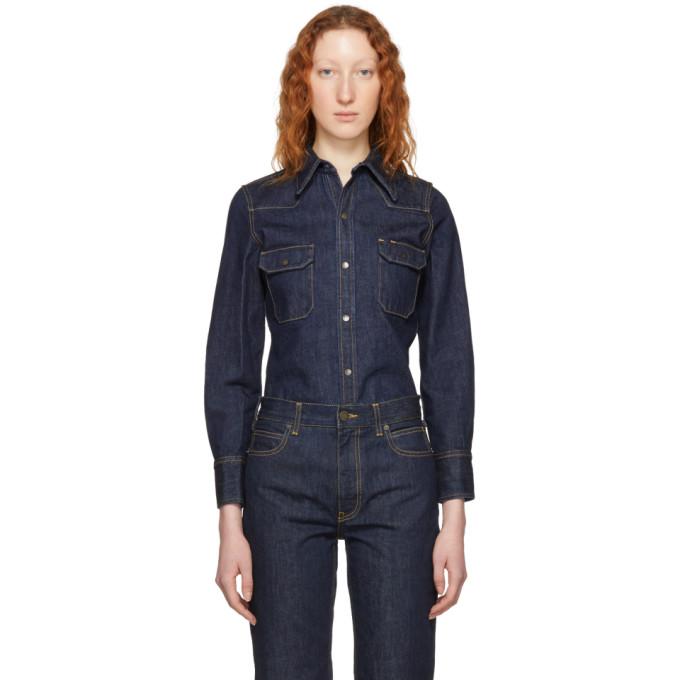 Calvin Klein 205W39NYC Blue Denim Shirt