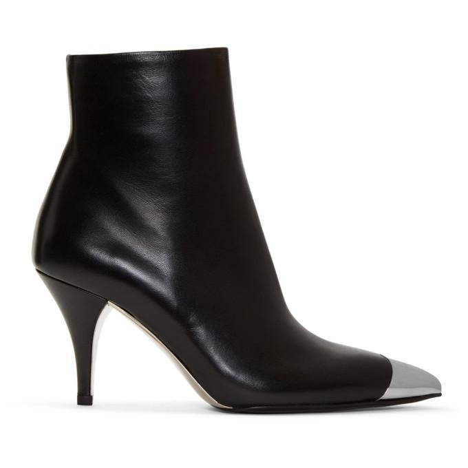Image of Calvin Klein 205W39NYC Black Rosella Cap Toe Boots