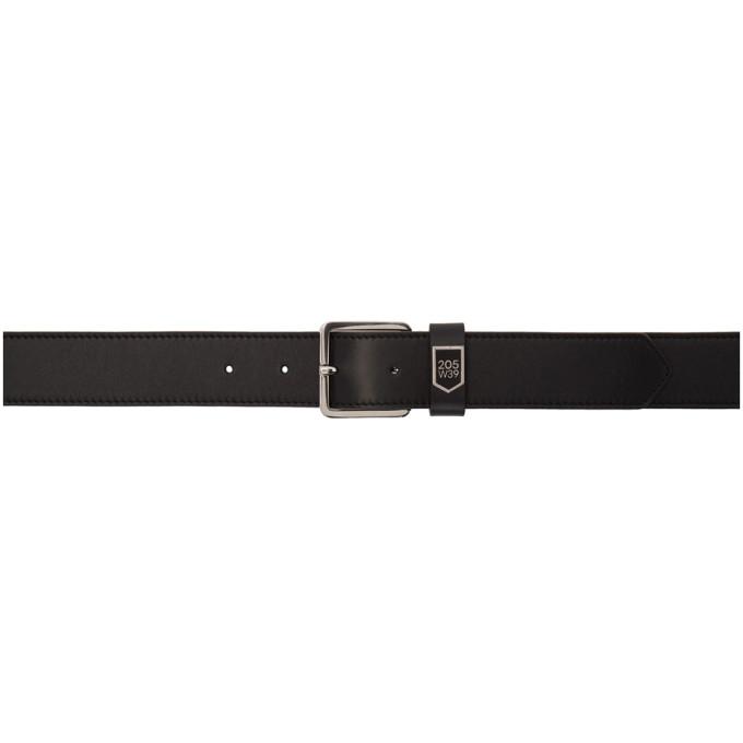 Image of Calvin Klein 205W39NYC Black Leather Belt