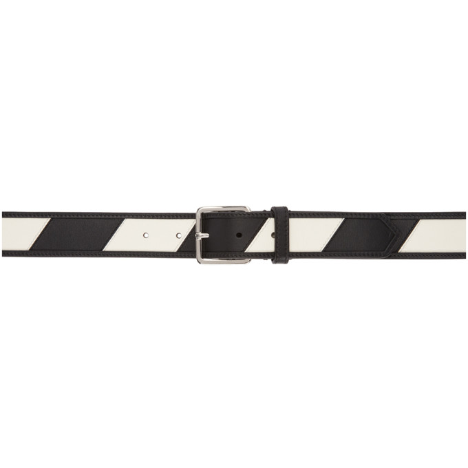 Image of Calvin Klein 205W39NYC Reversible Black & White Stripe Belt