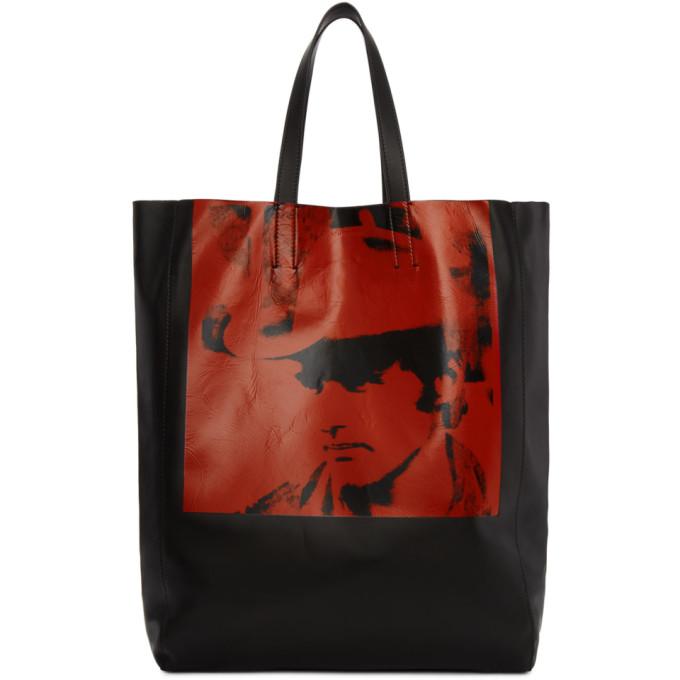 Calvin Klein 205W39NYC Black & Red Dennis Hopper Tote