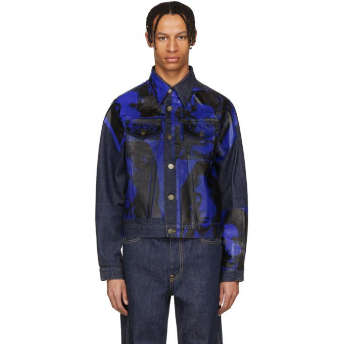 Calvin Klein 205W39NYC インディゴ Sandra Brant デニム ジャケット