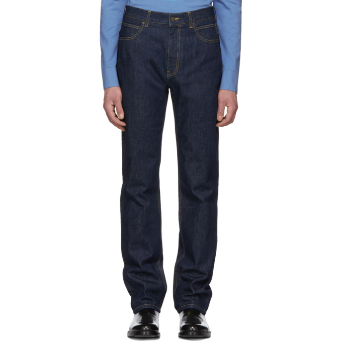 Calvin Klein 205W39NYC Blue High-Rise Straight Jeans