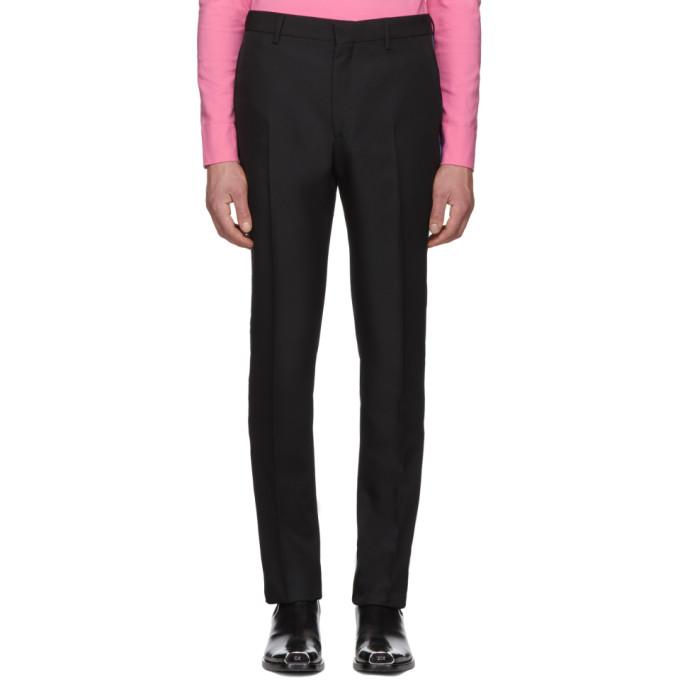 Image of Calvin Klein 205W39NYC Black Uniform Side Stripe Trousers