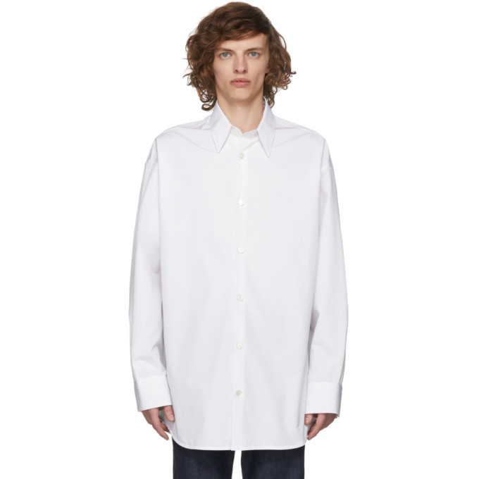 Calvin Klein 205W39NYC White Dennis Hopper/Sandra Brant Shirt