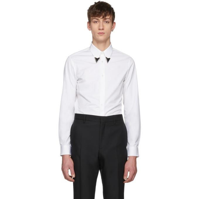 Image of Calvin Klein 205W39NYC White Pointed Collar Shirt