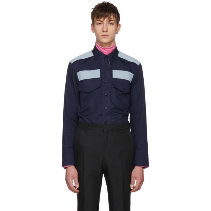 Image of Calvin Klein 205W39NYC Navy Workwear Pocket Shirt