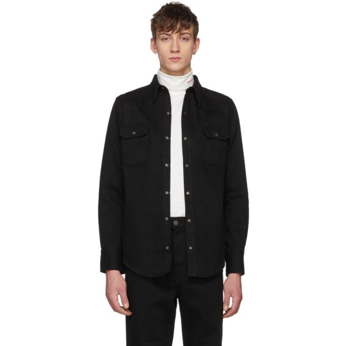 Image of Calvin Klein 205W39NYC Black Denim Shirt