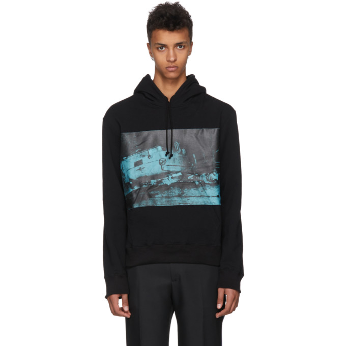 Image of Calvin Klein 205W39NYC Black Car Crash Hoodie