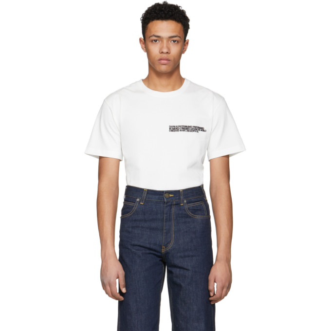 Calvin Klein 205W39NYC White Text Logo T-Shirt
