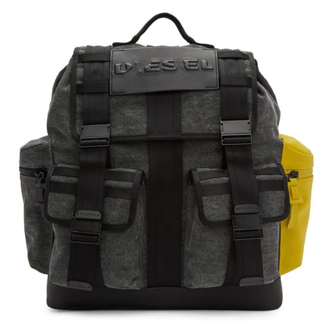 Diesel Grey & Black M-Cage Backpack