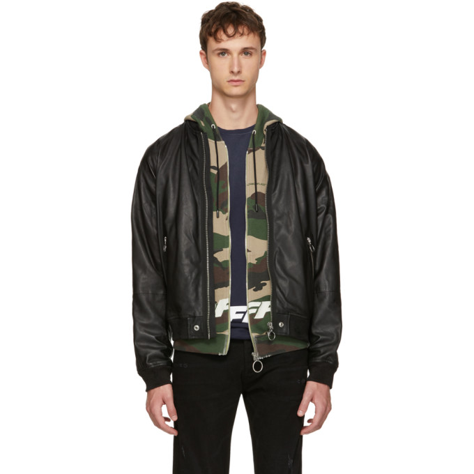 Diesel Black Leather L-Pins Jacket