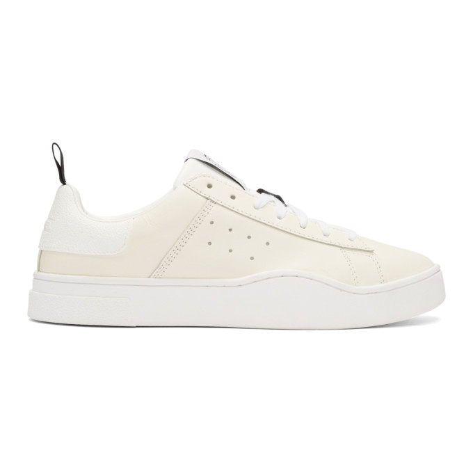 Diesel White S-Clever Sneakers