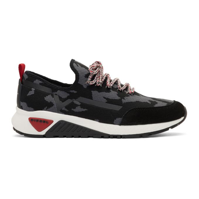 Diesel Black Camo S-KBY Running Sneakers