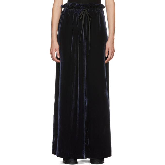 Image of Cecilie Bahnsen SSENSE Exclusive Navy Sara Trousers