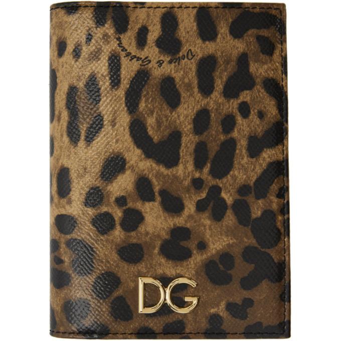 Dolce & Gabbana Tan & Black Passport Holder