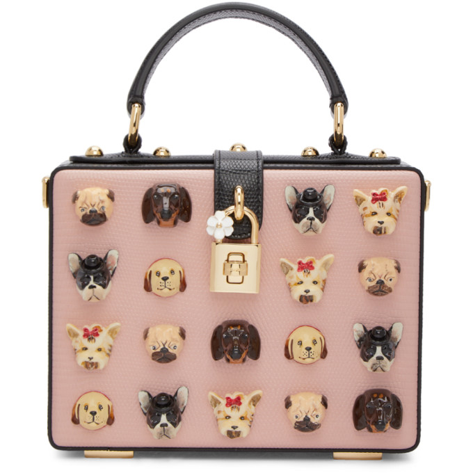 Dolce & Gabbana Pink Dogs Box Bag