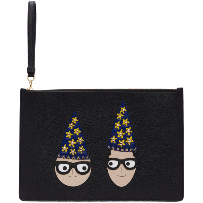 Dolce And Gabbana Black Magician Dgfamily Pouch in 80999 Black