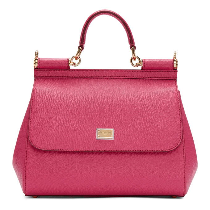 DOLCE AND GABBANA PINK MEDIUM SICILY BAG