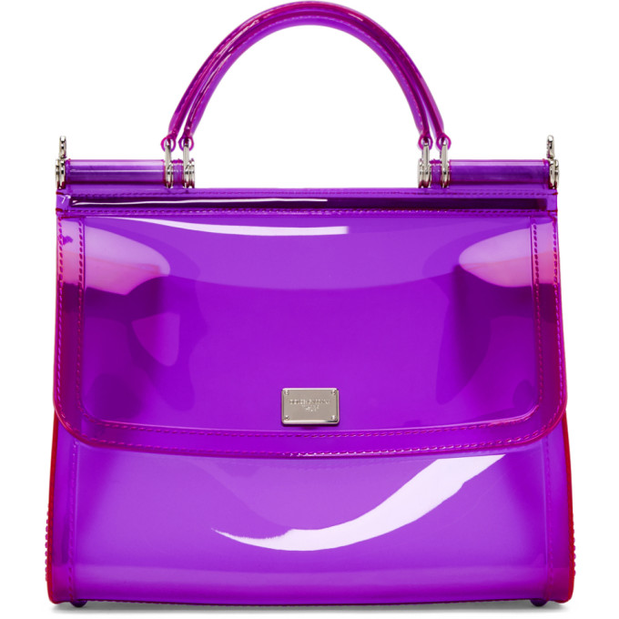 Dolce & Gabbana Purple Small Rubber Miss Sicily Bag