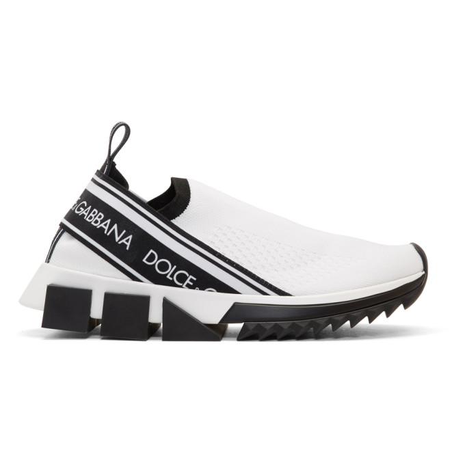 Dolce & Gabbana White Sorrento Sock Sneakers
