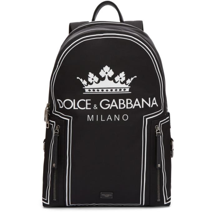 Dolce & Gabbana Black 'DG Logo' Backpack