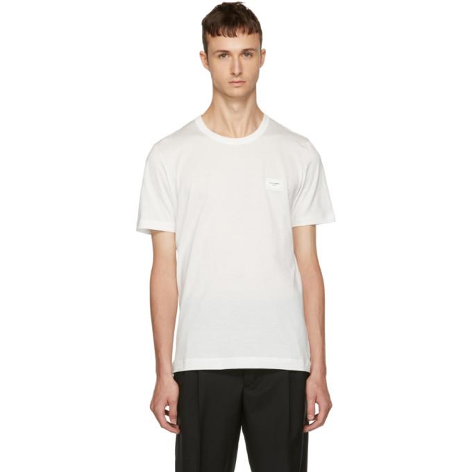 Dolce & Gabbana ホワイト プラーク T シャツ