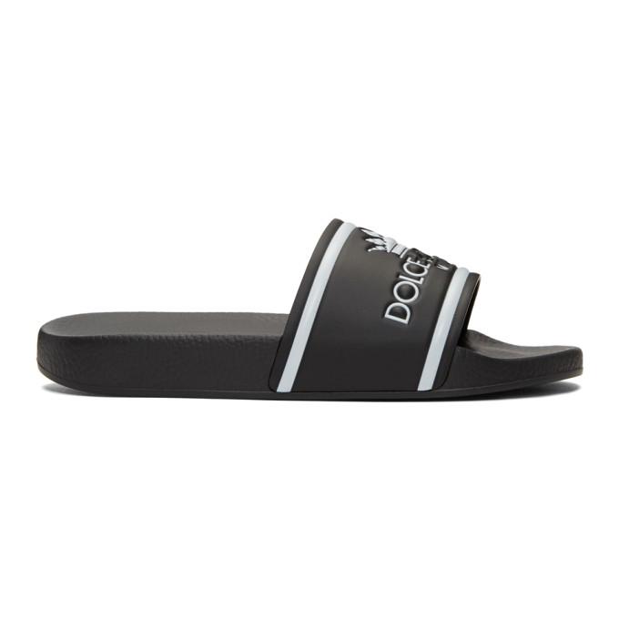 Dolce & Gabbana Black Milano Logo Slides